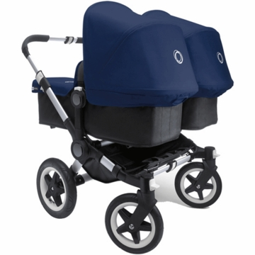 Bugaboo Donkey Twin Stroller in Black/Royal Blue