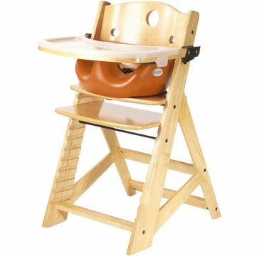Keekaroo Height Right High Chair & Infant Insert - Natural/Pumpkin