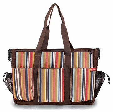 Skip Hop Duo Double Canvas Diaper Bag in Uptown Stripe