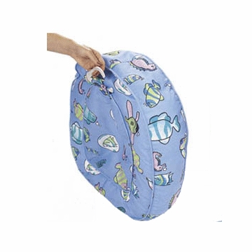 Leachco Bath 'N Bumper Cushioned Bath Support Blue Fish