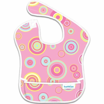 Bumkins Waterproof Super Bibs in Pink Flizz- 3 Pack