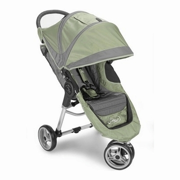 "Baby Jogger City Mini Single 8"" Stroller 2011 Green/Gray"