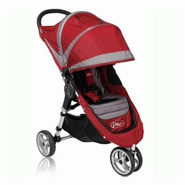 "Baby Jogger City Mini Single 8"" Stroller 2011 Crimson/Gray"