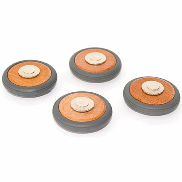 Tegu Magnetic Wooden Wheels - Set of 4