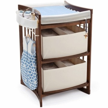 Stokke CARE Changing Table in Walnut Brown