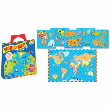 Peaceable Kingdom World Map Sticker Pack