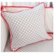 Caden Lane Coral & Gray Square Pillow (Limited Edition)