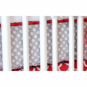 Caden Lane Coral & Gray Crib Sheet (Limited Edition)