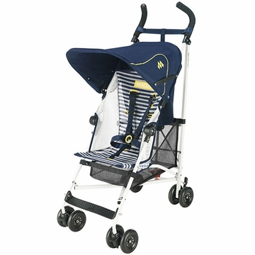 Maclaren Volo Stroller - White - Nautical Stripe