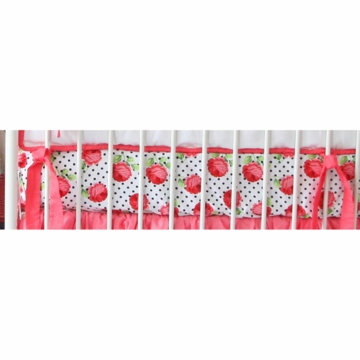 Caden Lane Girly Coral Rose Crib Sheet (Limited Edition)