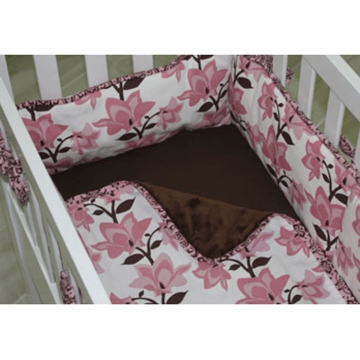 Green Frog Art Chloe 3 Piece Cradle Bedding Set