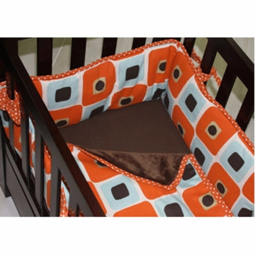 Green Frog Art Logan 3 Piece Cradle Bedding Set