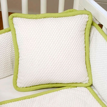 Green Frog Art The MOD Frog Decorative Cradle Pillow in Lime