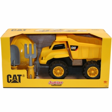 "Kettler CAT 14"" Dump Truck with Helmet and Tools"