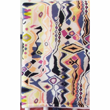 Caden Lane Ikat Coral Girl Blanket (Limited Edition)