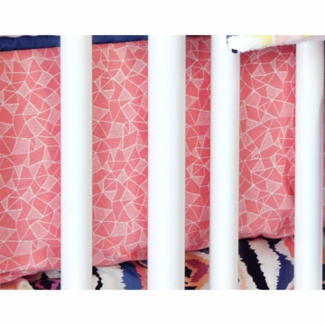 Caden Lane Ikat Coral Girl Crib Sheet (Limited Edition)