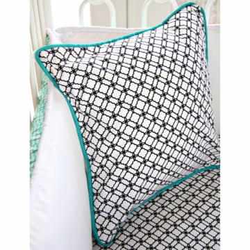 Caden Lane Lacey Dot Square Pillow (Limited Edition)