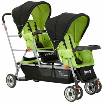 Joovy Big Caboose Stand-On Triple Stroller in Appletree