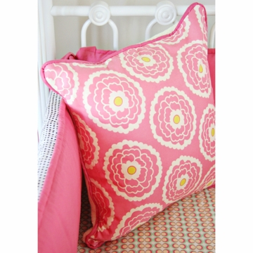 Caden Lane Lacey Rose Square Pillow (Limited Edition)