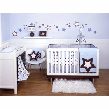 KidsLine Mod Pod Pop Star Baby Crib Bedding 4 Piece Set
