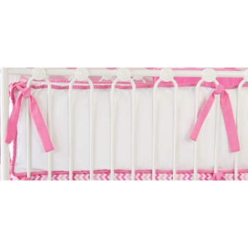 Caden Lane White Pique with Pink Piping Bumper (Limited Edition)