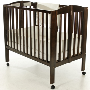 Dream On Me 2-in-1 Portable Crib - Espresso