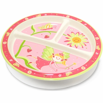 Sugar Booger Fairies & Berries Divided Suction Plate