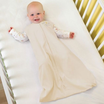 Halo 100% Cotton SleepSack Wearable Blanket - Cream - Small