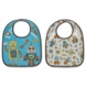 Sugar Booger Retro Robot Mini Bib Gift Set of 2