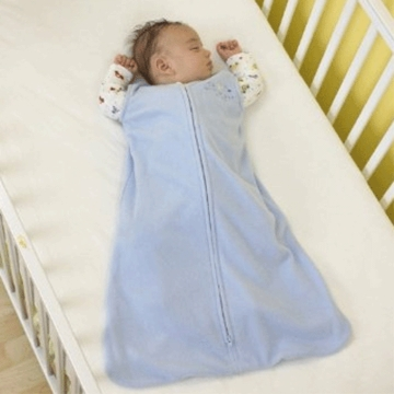 Halo Micro-Fleece SleepSack Wearable Blanket - Baby Blue - Medium