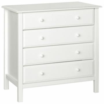 DaVinci Roxanne 4 Drawer Dresser in White