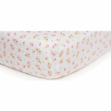 Carter's Easy Fit Crib Printed Fitted Sheet - Pink/Green Floral