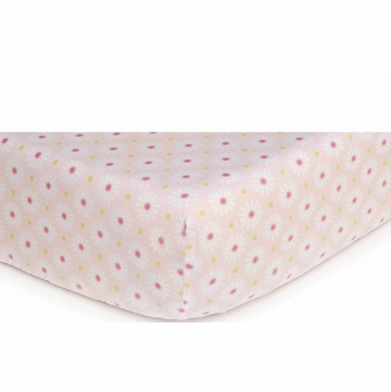 Carter's Easy Fit Printed Crib Fitted Sheet - Pink Daisy