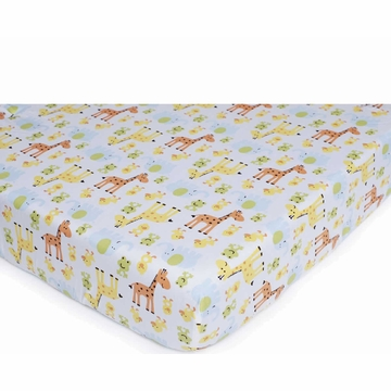 Carter's Easy Fit Printed Crib Fitted Sheet - Safari Duck