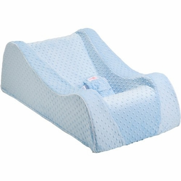 Nap Nanny Chill Portable Recliner in Minky Blue