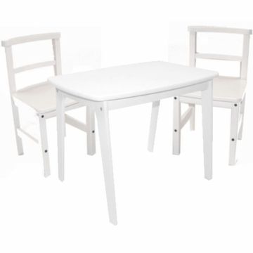 Kettler Rectangle Table and Chair Set of 2 Set White