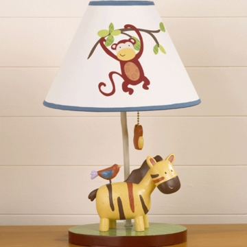 CoCaLo Jungle Jingle Lamp Base & Shade