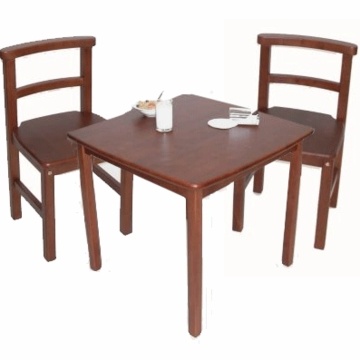 Kettler Square Table and Chair (Set of 2) Set Mahogony