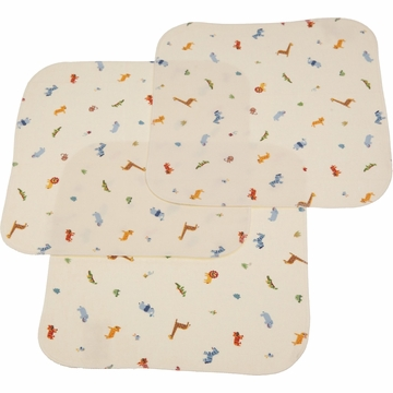 Carter's Keep-Me-Dry 3-Pack Flannel Lap Pads in Animals