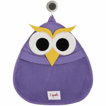 3 Sprouts Bath Storage in Owl Purple