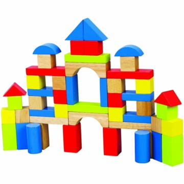 Hape Rainbow Block Set