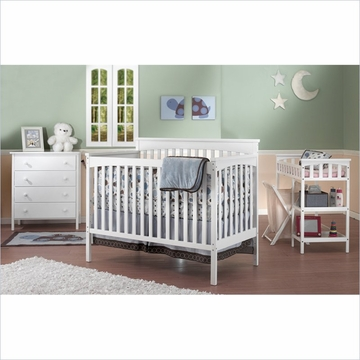 SB2 Petite Paradise Kids' Nursery Room in A Box in White