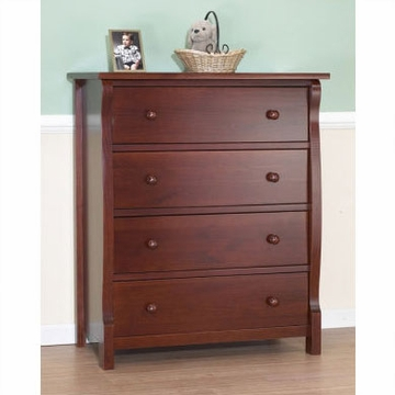 Sorelle Tuscany/Princeton 4 Drawer Dresser in Cherry