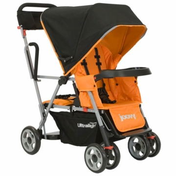 Joovy Caboose Ultralight in Orangie with Parent Organizer