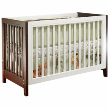 Sorelle City Lights Commuter Convertible Crib Espresso and White