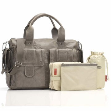 Storksak Sofia Diaper Bag - Leather Taupe