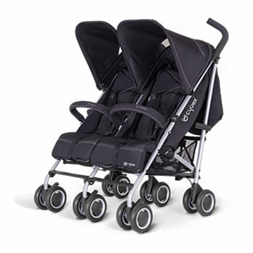 Cybex Twinyx Double Stroller in Pure Black