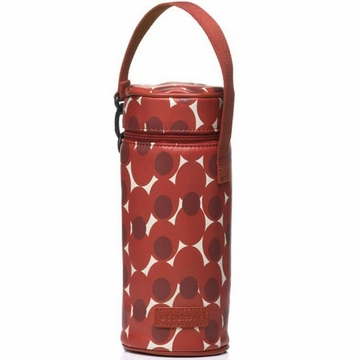 Storksak Single Bottle Holder - Retro Dot Red