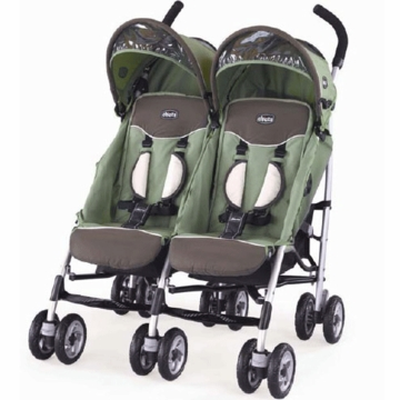 Chicco Trevi Twin Stroller in Adventure Fabric