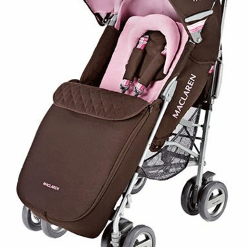 Maclaren Techno XLR Footmuff in Coffee Brown / Powder Pink